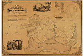 Map of George Washington's Mount Vernon; Antique Map, 1859 - $26.72+