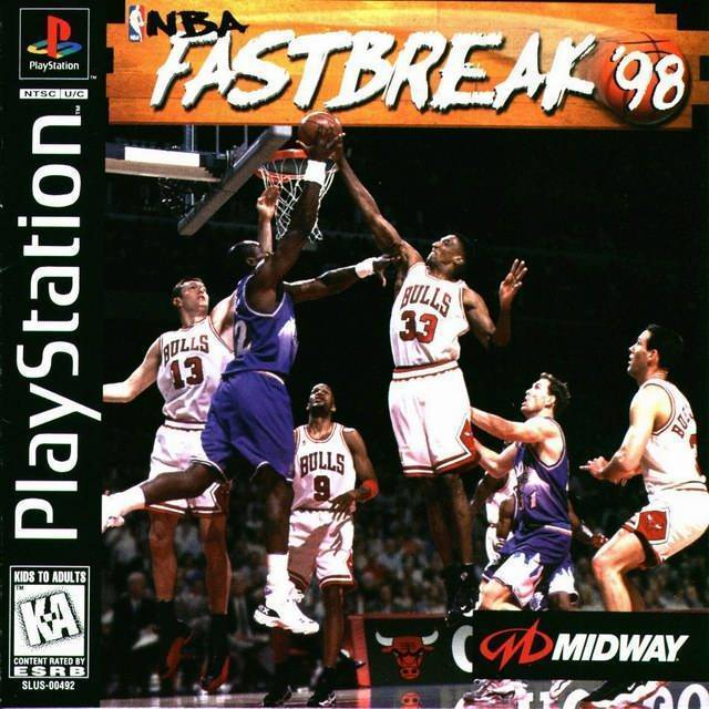 NBA Fastbreak '98 PS1 Great Condition Complete Fast Shipping