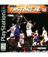 NBA Fastbreak '98 PS1 Great Condition Complete Fast Shipping - $6.24