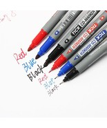 XUES® 1PC/Set Twin Tip Permanent Markers Fine Point Black Blue Red Ink P... - $1.31