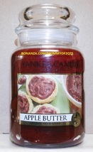 Yankee Candle Apple Butter 22 Oz Large Jar White Label Housewarmer Scented - $50.00