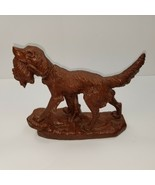 Red Mill Pecan Shell Resin Irish Setter Bird Dog #356 Figurine.  Value N... - $26.19