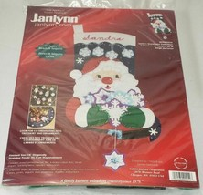 Janlynn Felt Applique Christmas Stocking Santa's Snowflake Collection, S... - $19.99