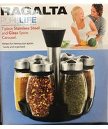 Ragalta USA - RSR-010 - 7 Pieces Glass and Stainless Spice Carousel - $29.65