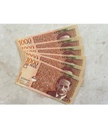 6 Colombia 1000 Mil Pesos 2009 Consecutive Unc MisCut Extra Paper Error Banknote - $98.01