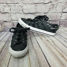 DIESEL Womens 8 38.5 Black Leather S-Exposure Cutout low Top Sneakers Lace Up - $28.04