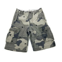 GAP Camouflage Cargo Shorts with Embroidered Skulls 100% Cotton Boys 12 Regular - $17.77