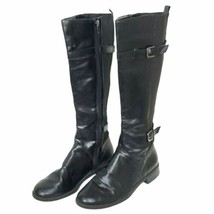 Aerosoles Womens Boots 6.5 Worldride Black Riding Motorcycle Biker Buckles  - $19.99