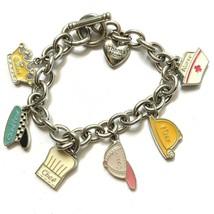 Hallmark Many Hats of Mom Charm Bracelet Mothers Day Birthday Gift Enamel - $9.84