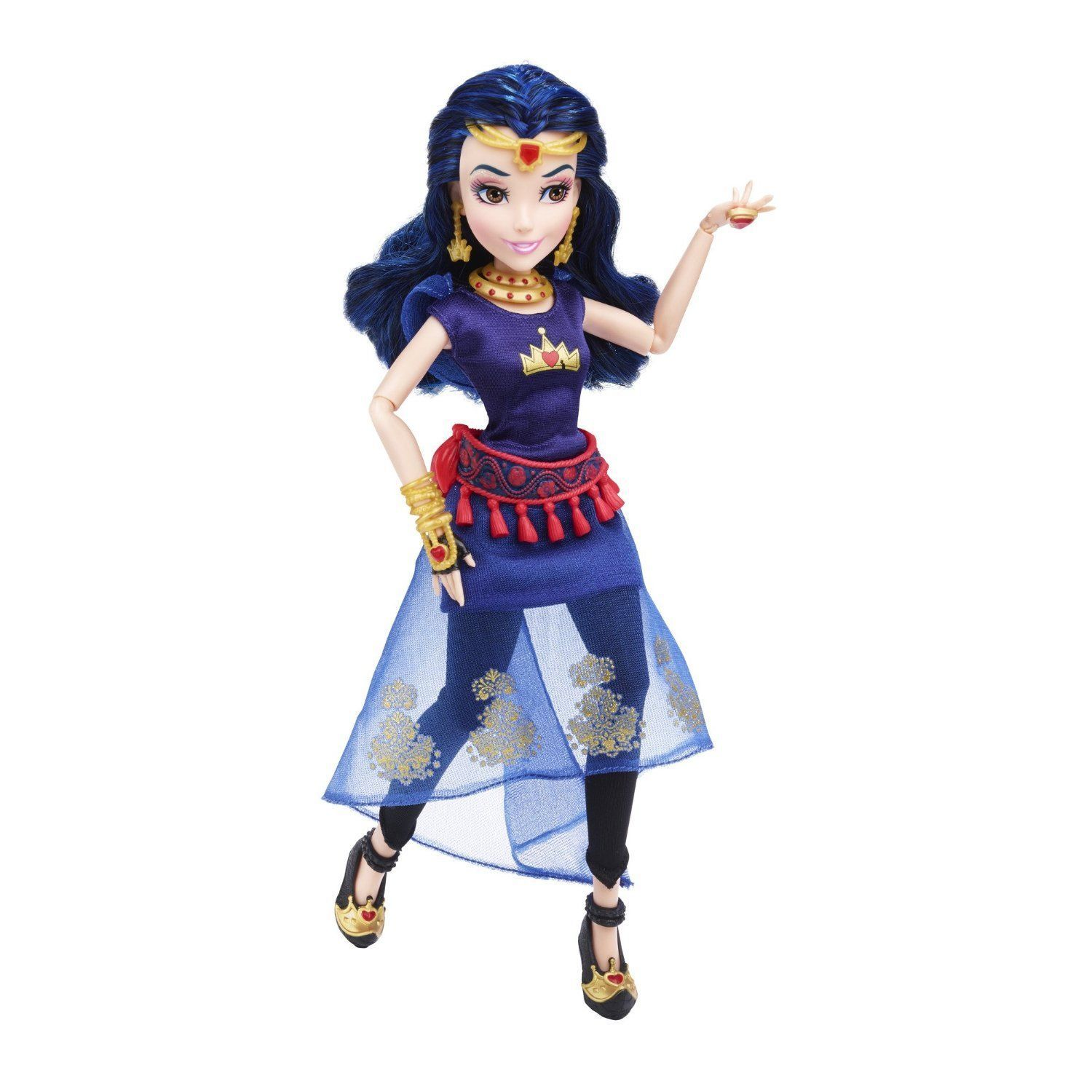Disney Descendants Genie Chic Villain Evie Doll in Blue, Hasbro, 6+