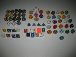 Huge 71 Piece Lot of Polyhedral RPG D&D Dice Chessex & More D20 D10 D12 ... - $296.99