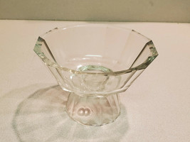"""Vintage 4 1/4"""" Tall x 6"""" Wide At The Top Clear Compote Candy Dish - $19.75"""