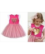 NEW Flip Sequin Heart Girls Pink Valentines Tutu Dress 3-4 4-5 5-6 6-7 7-8 - $12.99