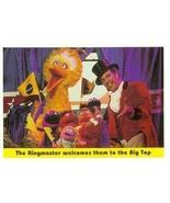 Sesame Street trading card 1992 Idolmaker #52 Ringmaster Circus Big Bird... - $3.00