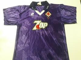 old soccer jersey fiorentina Italia t-shirt Lotto Brand 7up - $98.01