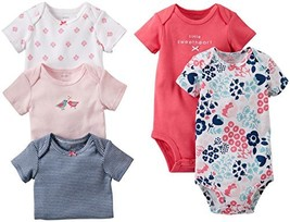 Carter's Baby Girls' 5 Pack Bodysuits Baby - Assorted Solids - Multi - P... - $31.05