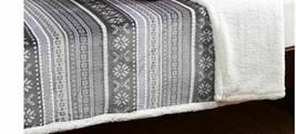 Berkshire Fair Isle Print Sherpa Blanket Collection KING SIZE - $58.91