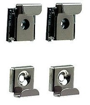 CRL Polished Chrome Plastic Lined Mirror Mounting Clips, 4 Clips Per Set - $11.76