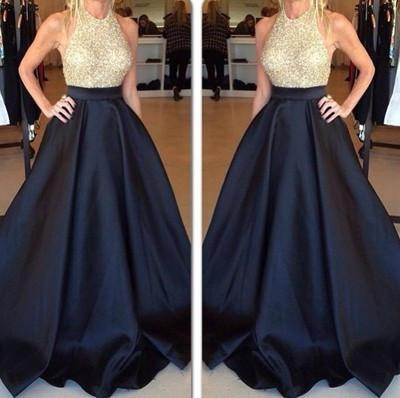 charming Prom Dresses,sparkle Prom Dress,black Prom dress,backless Prom Dresses