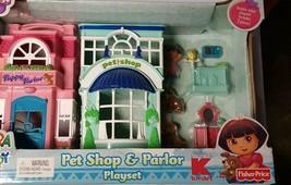 Fisher Price Dora Pet shop Parlor Playset  NEW petshop kmart exclusive - $21.99