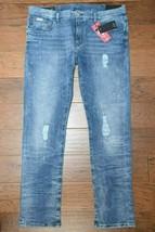 Armani Exchange A|X $140 Men's Slim Fit Stretch Cotton Blue Destroyed  J... - $65.33