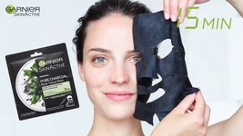 Garnier Skin Active's Charcoal and Black Tea Hydrating Purifying Tissue ... - $5.99