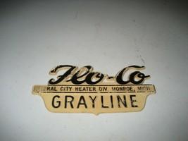 Vintage Floral City plastic Nameplate Logo Badge Placard sign emblem Pla... - $29.69