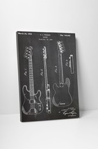 Fender Bass Guitar Patent Print Gallery Wrapped Canvas Print. BONUS WALL DECAL! - $44.50+