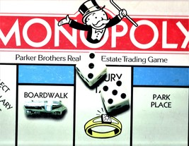 Monoply Game - Parker Brothers Real Estate Trading Game (1985 Edition) - $12.50