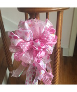 Baby Girl Gender Reveal Door Banister Mailbox Pink Ribbon Bow Boy Blue Bow - $16.99