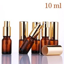Small Amber Glass Spray Bottles for Aromatherapy Essential Oils – Refill... - $15.55