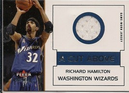 RICHARD HAMILTON 2002-03 FLEER PREMIUM A CUT ABOVE GAME USED JERSEY - $5.90