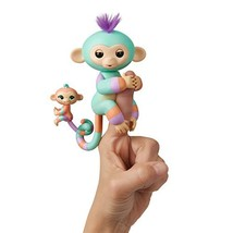 WowWee Fingerlings Baby Monkey & Mini BFFs Danny and Gianna Orange, Turq... - $11.96
