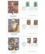 5 FDC 32 CENT VICTORIAN CHRISTMAS SHEET ISSUE SANTA SAINT NICK FREE SHIP... - €10,63 EUR