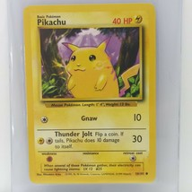 1999 Pokemon Card Base Set Pikachu 44/102 Played With,Front In Great Condition - $19.79