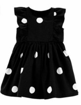 Carter's Baby Girls Black Sateen with White Polka Dots Bow Dress - $35.64