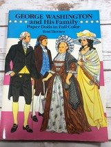 George Washington His Family Paper Dolls Dover UNCUT Tom Tierney 1989 Vi... - $9.85