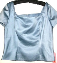 NEW BLUE SHORT SLEEVE TOP SIZE 14 - $5.99