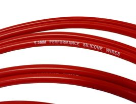 9.5mm Red Silicone High Performance Spark Plug Wire Set Universal Fit V8 V6 image 6