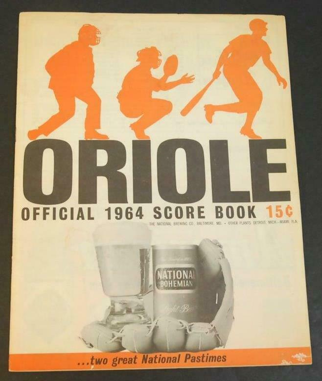 Primary image for 1964 Baltimore Orioles Baseball Scorecard Cleveland Indians Scored VGEX Mantle