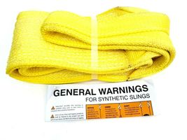 """Stren-Flex Web Sling, Recovery Strap 4' ft x 6"""" in Nylon Yellow Made in USA New image 4"""