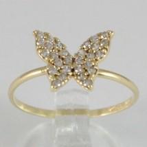 Anillo de Oro Amarillo 750 18K Mariposa Con Zirconia Cúbicos CT 0.56 , H... - $187.84