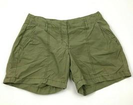 Tommy Hilfiger Boyfriend Shorts Women's Size 6 Olive Green Flat Front Zi... - $17.83