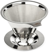 Stainless Steel  Paperless Pour Over Coffee Maker Drip Cone Coffee Filte... - $24.68