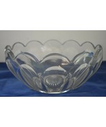 "Imperial Glass Old Williamsburg Clear 9"" Salad Bowl w/Label - $49.95"