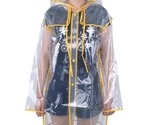 Raincoat Transparent Coat Vinyl Waterproof Outdoor Travel Hooded Ladies Rainwear