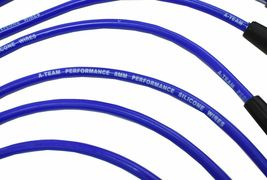 FORD SMALL BLOCK 289 302 351W HEI BLUE 8mm SPIRAL CORE SPARK PLUG WIRES image 4