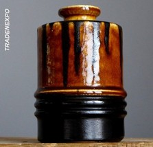 RETRO Vintage 60's VEB HALDENSLEBEN 2914 Dripping Vase E.German Pottery ... - $19.79