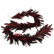 ZUCKER Dyed Bronze SCHLAPPEN Feather Garland RED image 5