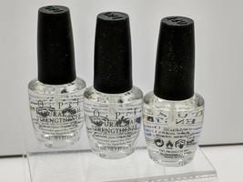 3 LOT OPI Natural Nail Strengthener Nail Lacquer (.5 oz) Clear NTT60 NT T60 - $12.69